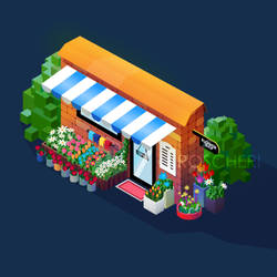 Flower's Shop Isometry 1 by roscheri