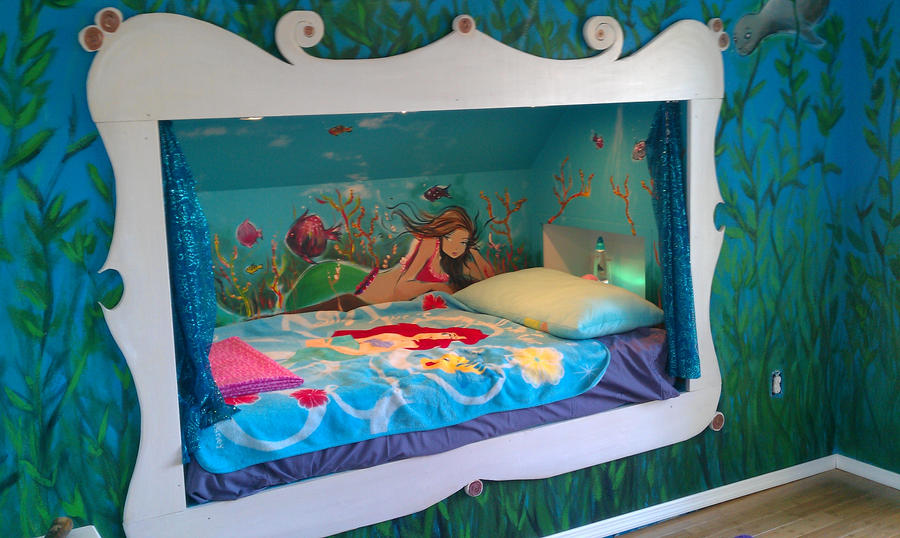 Mural Art For A Client  Mermaid And Sea Scape By Billy68 ...