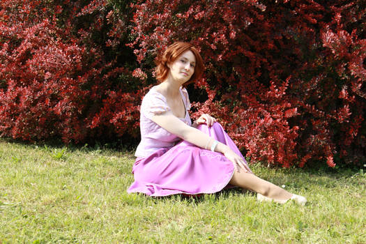 Rapunzel and red leaves