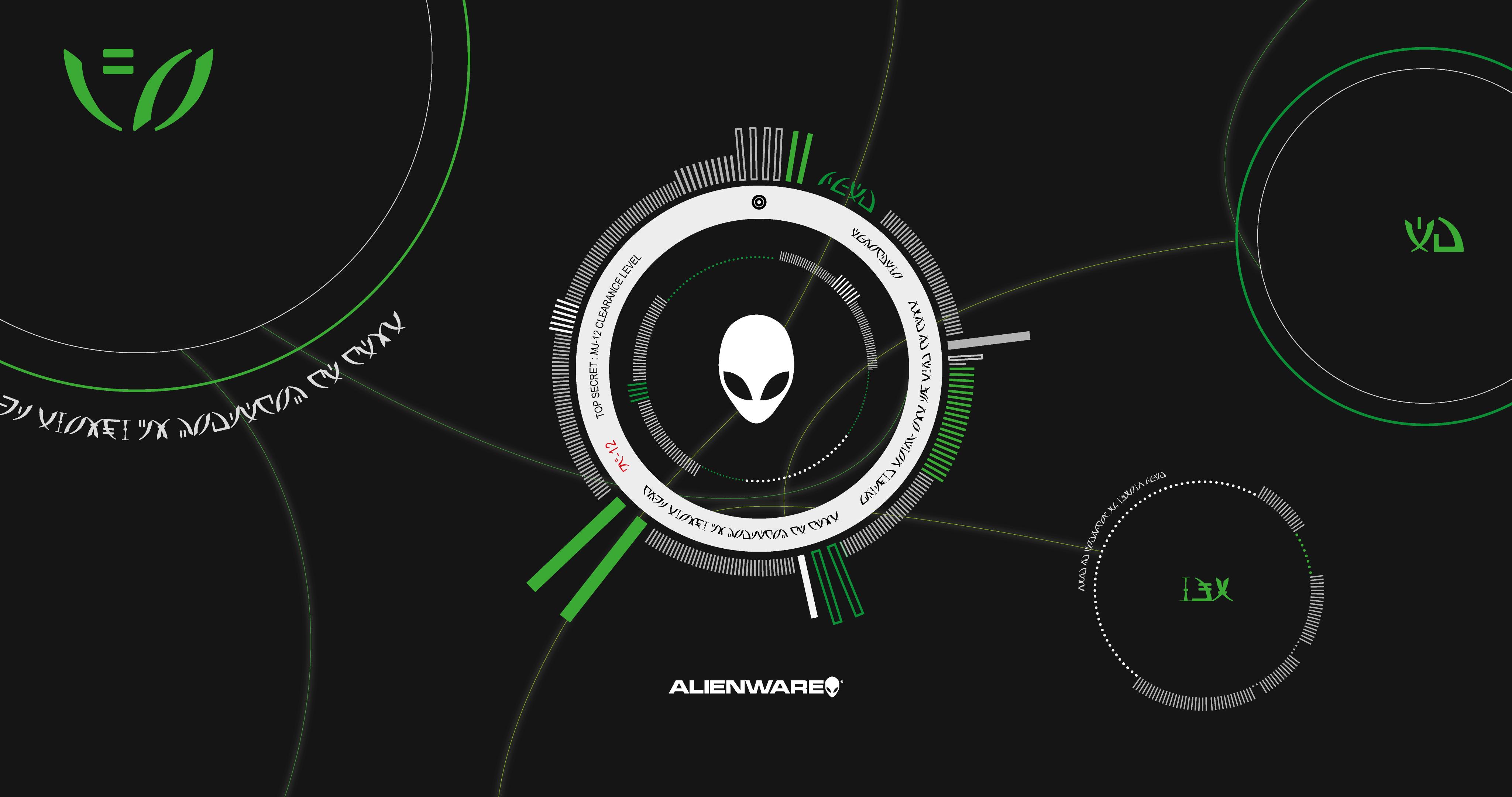 Alienware 4k Wallpaper Green Minimal Ring By Robertglas On