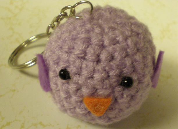 Baby Bird Amigurumi : Amigurumi Baby Bird Keychain by SubakaMoo