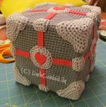 Amigurumi Portal Companion Cube