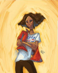 The Lady With The Pepsi Tshirt