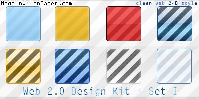 Web 2.0 Design Kit - Set I by WebTager