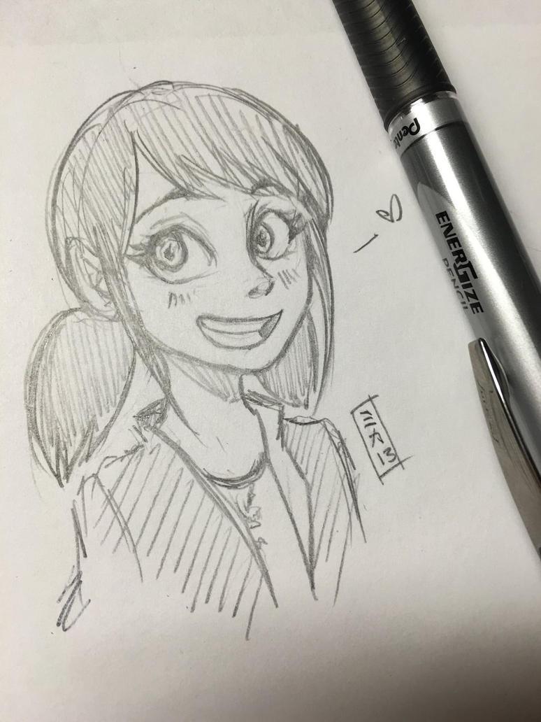 Marinette Sketch by Mikki05