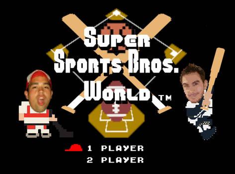 Super Sports Bros. World Title Screen