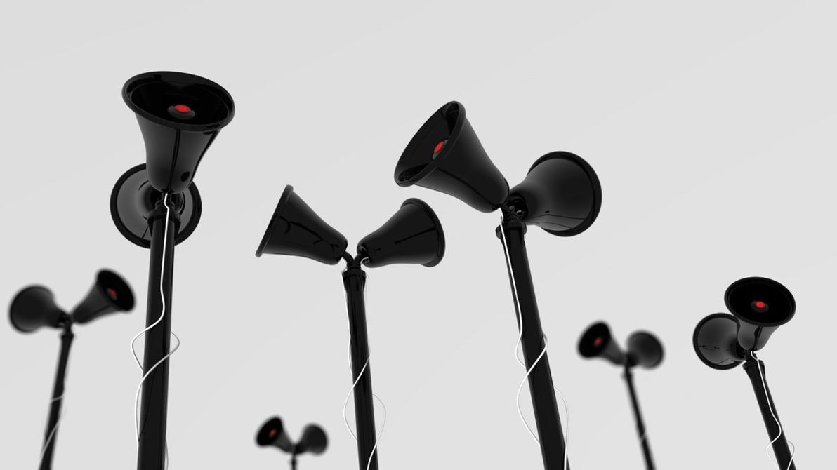Megaphone Speakers Re:Render by Zatemedek