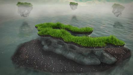 Grassy rocks