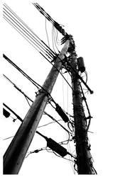 Wire Obelisk by miharashi