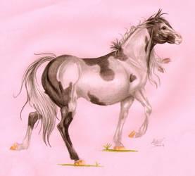 paint horse art trade