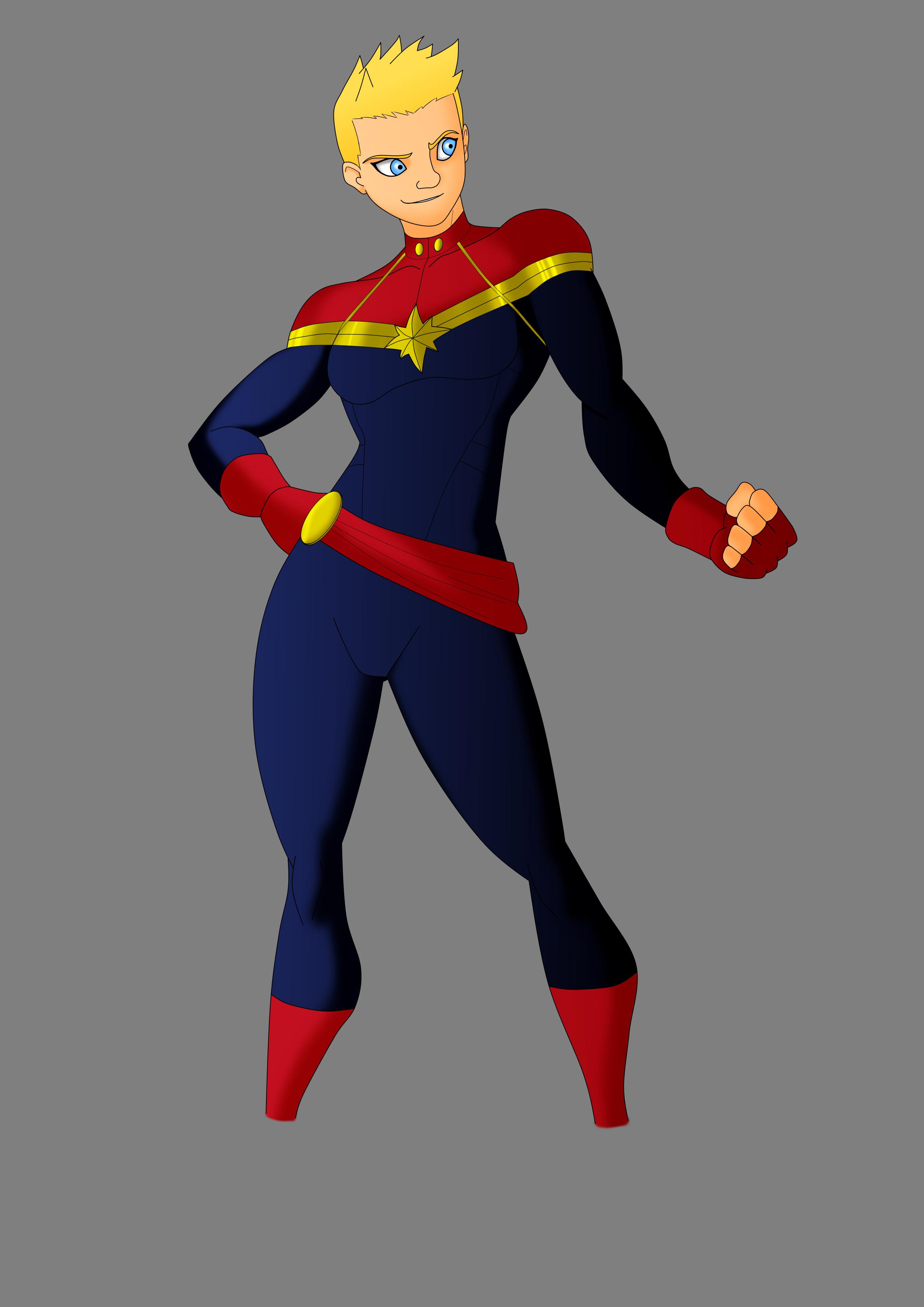 Capitana Marvel - Dibujo Digital