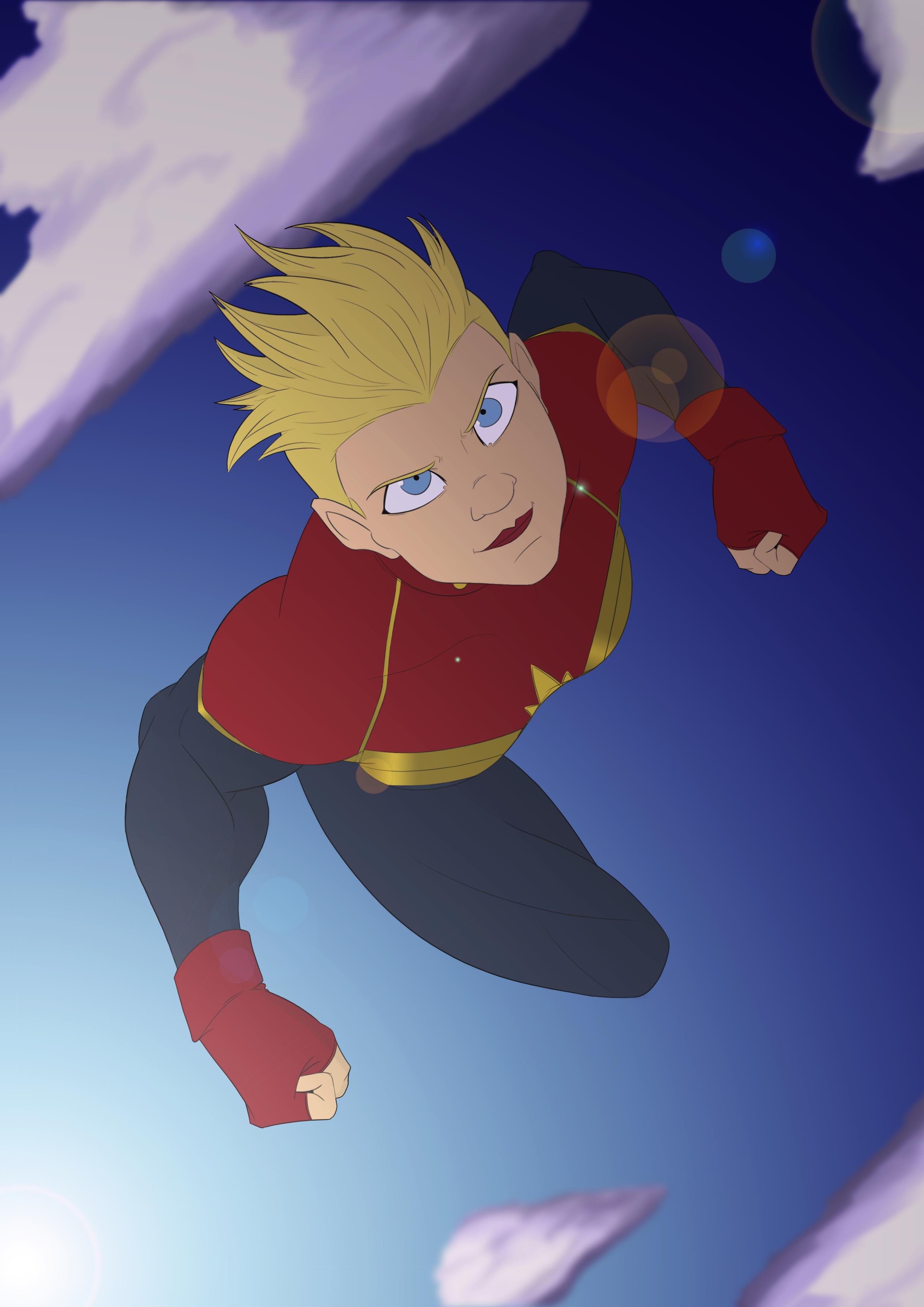 Captain Marvel / Dibujo Digital