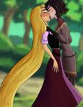Cassandra kisses Rapunzel