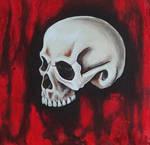 Human Skull Acrylic Study