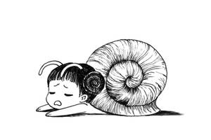 Snail girl by freeminds