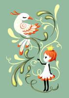 Princess and a Bird by freeminds