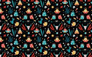 Strange Birds Pattern by freeminds