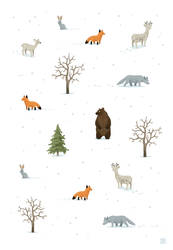Winter Forest Animals by freeminds