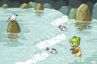 Fishing lunch by freeminds