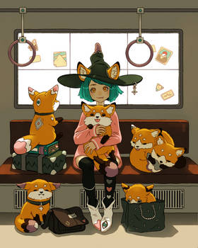 Witch and the magic foxes