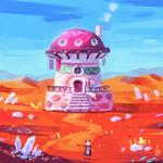 House in a desert