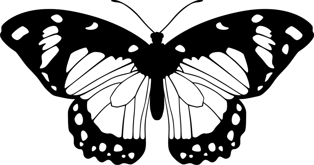 Butterfly Clipart Coloring Pages