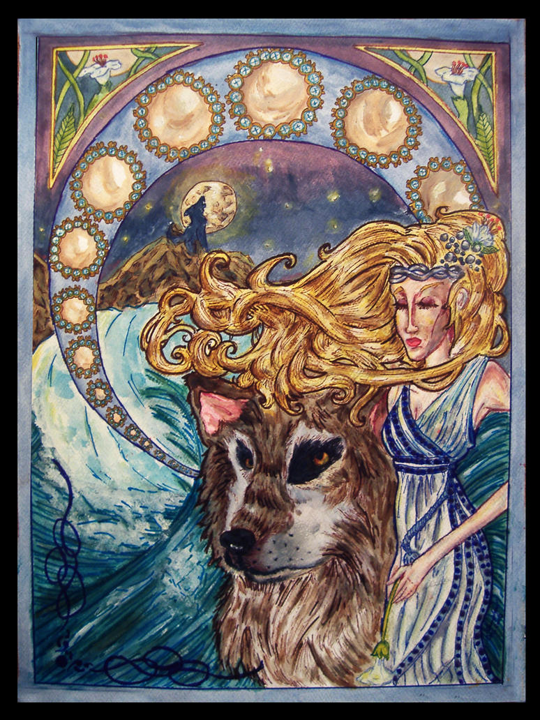 Symbolism in Art Nouveau Art Nouveau Moon Symbolism by