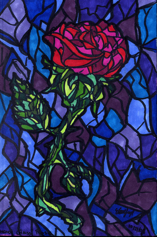 Stained Glass Rose by Shmelanna on DeviantArt