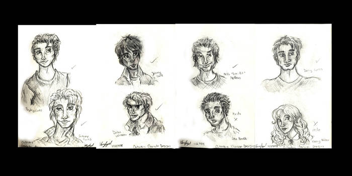 Outsiders Character Designs by Shmelanna