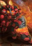 Incineroar vs. UB-02 Absorption