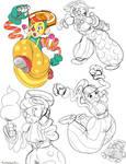 Lola Pop doodles
