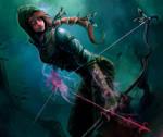 Forgotten Myths Card art - Runic bow