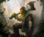 Forgotten Myths Card Art - Lumberjack