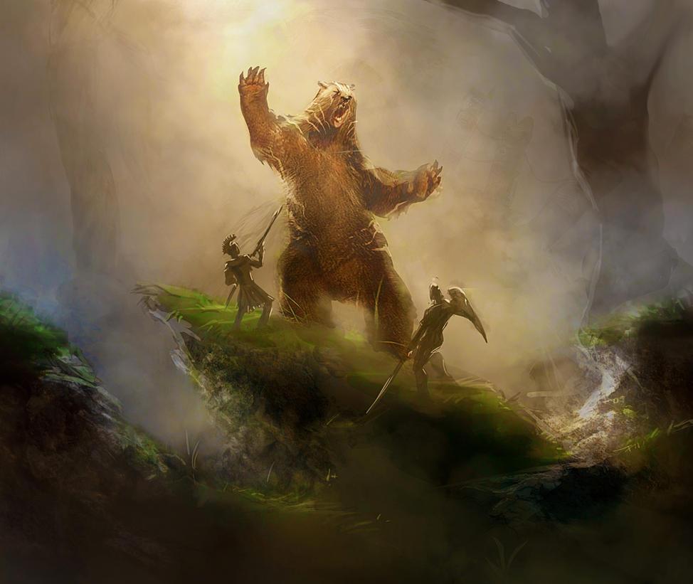 Card art for forgotten myths   striped bear by mattforsyth d6v6aam