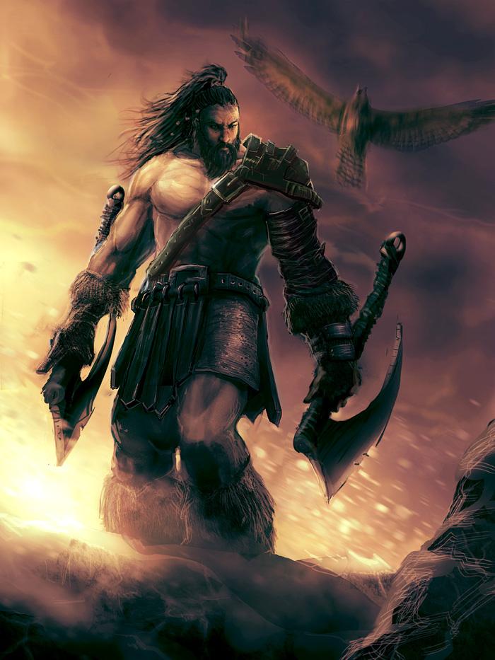 Barbarian Wanderer by mattforsyth