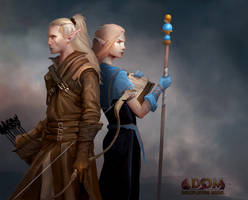 High Elves for ADOM Roleplaying game by mattforsyth