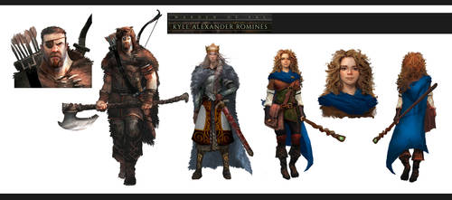 WARDEN of FAL book series - character design 1