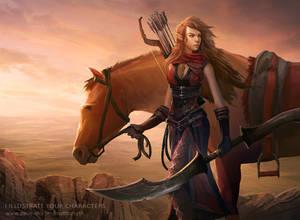 Elaria the Valenar Elf Battle Master