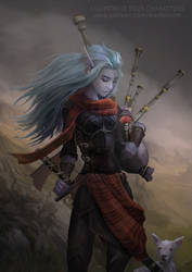 Novembers Patreon character - Aaura the bard