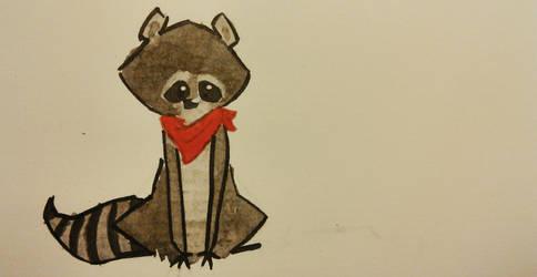 Inktober #27, Raccoon  by MiekeM