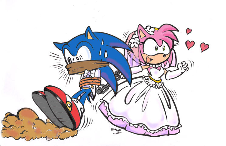 sonic married??? by ayamepso on DeviantArtSonic And Amy Wedding