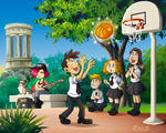 Ziggy and Mirtha basketball