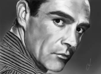 The real James Bond (iPad drawing) by notreallyJake
