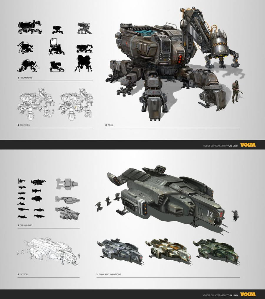concept mech by lingy-0