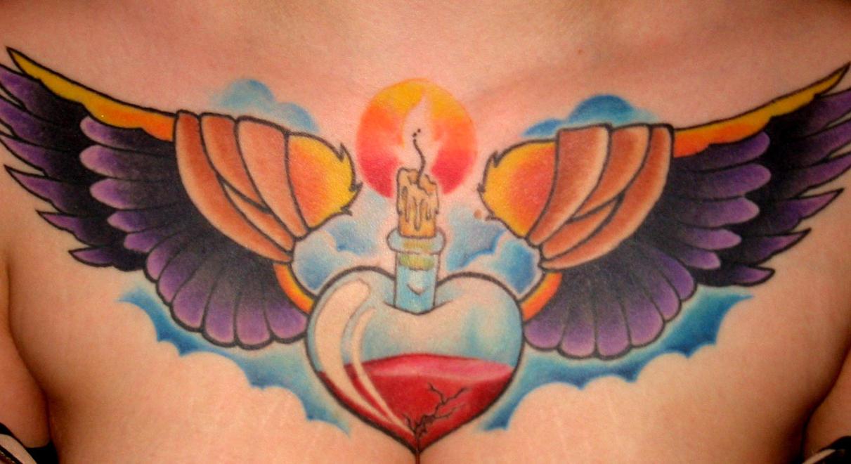 chest tattoo - chest tattoo