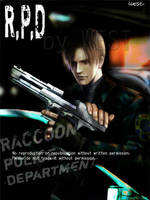 resident evil RPD LEON by wesvin