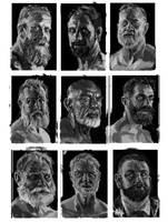 Face Studies by Konnee