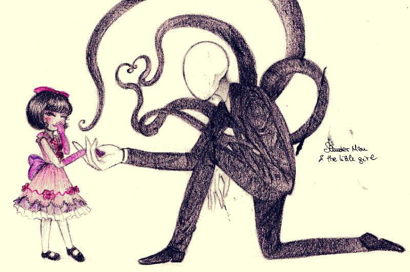 slender man nice to meet you little girl by petunia43