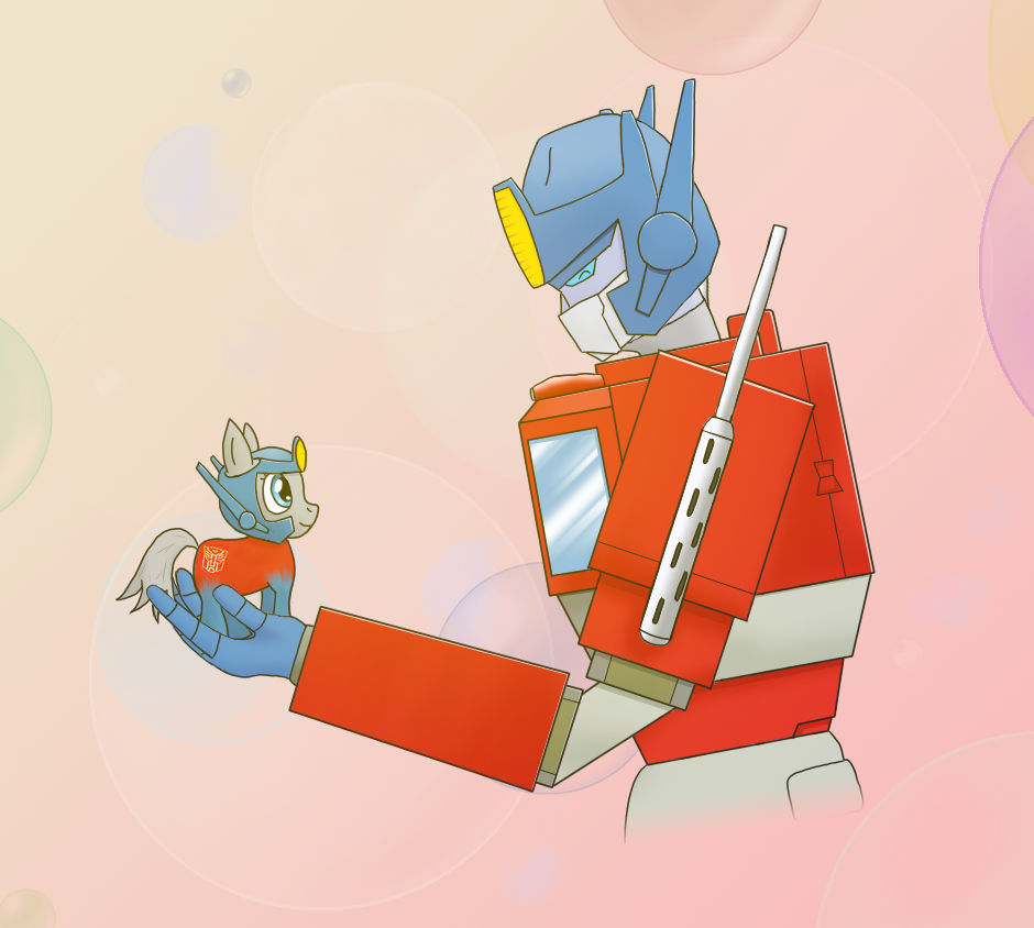 Optimus Prime finds a Pony