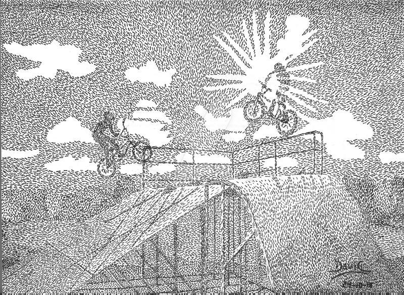 Ilustracion chicos en bici by tonetto17